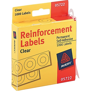 Avery® Reinforcements for Hole-Punched Pages, Clear, 1000/Pack