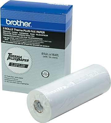 Brother® ThermaPlus Thermal Fax Paper For Intelifax 700/800M and Instafax 2100/2200M, White, 164'L x 8 1/2