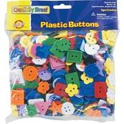 Chenille Kraft® Plastic Button Assortment, Assorted, Craft Materials, Assorted, 1/Pack (6120)