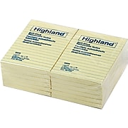 """Highland™ Notes, 4"""" x 6"""", Yellow, 12 Pads (6609)"""