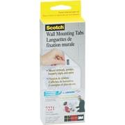 "Scotch® Wall Mounting Tabs, 1/2"" x 3/4"", 144 Tabs/Box"