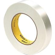 "3M Economy Grade Glass Filament Tape, 3"" Core, Clear, 24mm x 55m, 1/Rl"