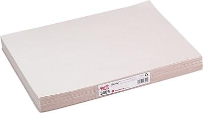 "Pacon Newsprint, White, Unruled, 18"" x 12"", 500 Sheets/Pk"