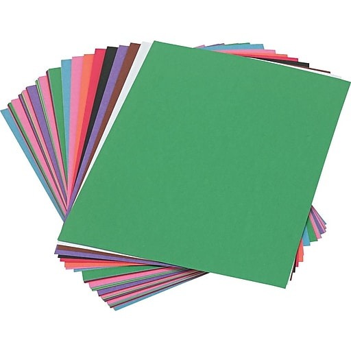 """Pacon SunWorks Construction Paper, 58 lbs., Assorted Colors, 9"""" x 12"""", 50 Sheets/Pk"""
