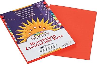 Pacon SunWorks Construction Paper, 58 lbs., Orange, 9