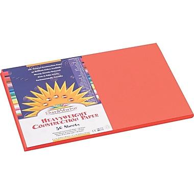 Pacon SunWorks Construction Paper, 58 lbs., Orange, 12