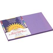 "Pacon SunWorks® Construction Paper, 58 lbs., Violet, 12"" x 18"", 50 Sheets/Pk"