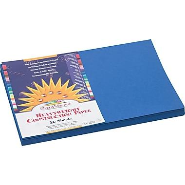 Pacon SunWorks Construction Paper, 58 lbs., Dark Blue, 12