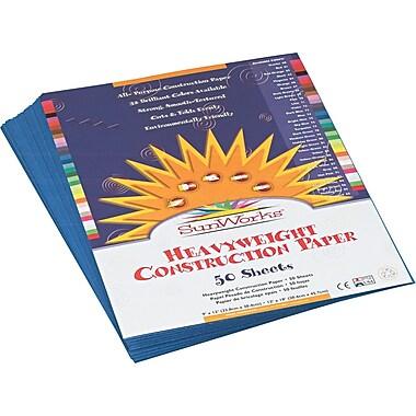 Pacon SunWorks Construction Paper, 58 lbs., Blue, 9