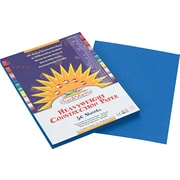 """Pacon SunWorks® Construction Paper, 58 lbs, Bright Blue, 9"""" x 12"""", 50 Sheets/Pk"""