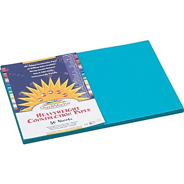 Pacon SunWorks® Construction Paper, 58 lbs., Turquoise, 12