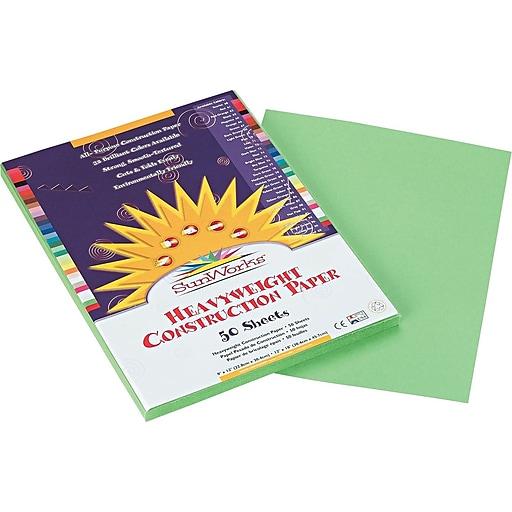 Pacon SunWorks® Construction Paper, 58 lbs , Light Green, 9