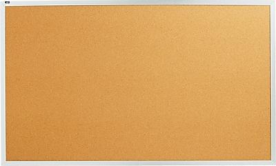 Quartet® 5' x 3' Cork Bulletin Board with Aluminum Frame