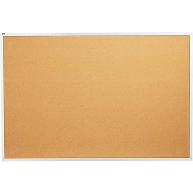 Quartet® 6' x 4' Cork Bulletin Board with Aluminum Frame