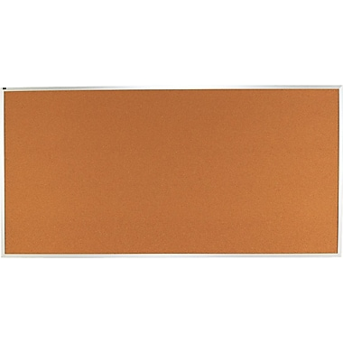 Quartet® 8' x 4' Cork Bulletin Board with Aluminum Frame