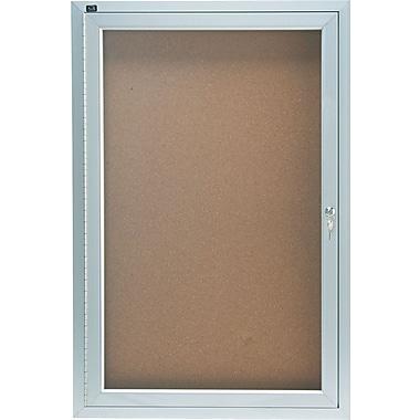 Quartet® 2' x 3' Enclosed Cork Bulletin Boards with Aluminum Frame