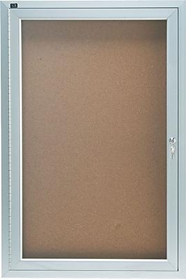 Quartet® Enclosed Cork Bulletin Board for Indoor Use, 2' x 3', 1 Door
