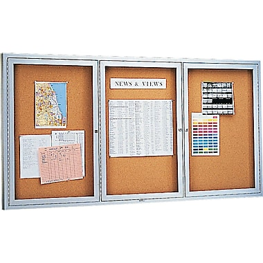 Quartet® 6' x 3' Enclosed Cork Bulletin Boards with Aluminum Frame