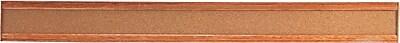 Quartet® Bulletin Border, Natural Cork Surface, Oak Finish Frame, 48