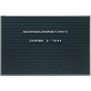 quartet 3 39 x 2 39 magnetic letter board staples. Black Bedroom Furniture Sets. Home Design Ideas