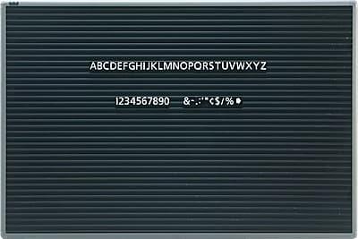 Quartet® Magnetic Letter Board Sign, Horizontal Ridges, Gray Frame, 36
