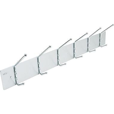 Safco 6-Hook Aluminum Wall Rack, 6 3/4