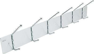 Safco® Wall Coat Hooks, 6-Hook