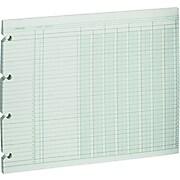 "Wilson Jones® Columnar Sheets, Ledger Paper, Ruled, 30 Lines, 8 Columns, Green Paper, 9 1/4"" x 11 7/8"", 100/Pk"