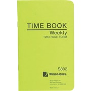 Wilson Jones Foreman's Time Book Green (S802)