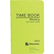 Wilson Jones Foreman's Time Book Green (S802)