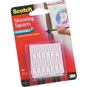 Scotch Removable Mounting Squares Tape, 16/Pack