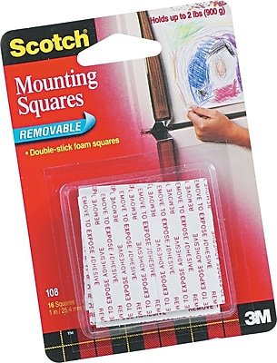 Scotch® Removable Mounting Squares, 1
