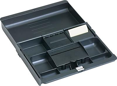 3M™ Black Plastic Adjustable Desk Drawer Organizer