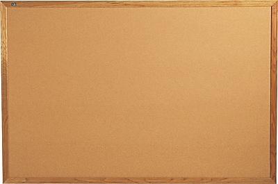 Quartet® Cork Bulletin Board, 6' x 4', Oak Finish Frame, Self-healing Surface
