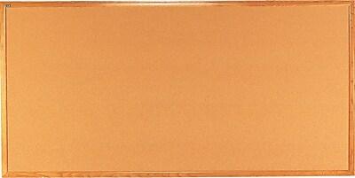 Quartet® Cork Bulletin Board, 8' x 4', Oak Finish Frame, Self-healing Surface