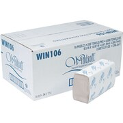 Windsoft Single Fold Paper Towel, 1-Ply, 250 Sheets/Pack, 4000 Sheets/Carton (WIN 106)