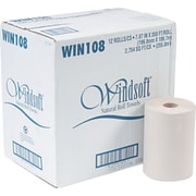 Windsoft Kitchen Rolls Paper Towel, 1-Ply, 12 Rolls/Carton (WIN 108)