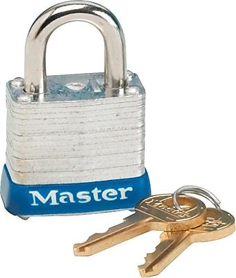 Master Lock® MLK7D Non-Rekeyable Laminated Padlock, Keyed Different