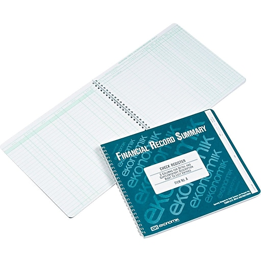 ekonomik wirebound check register form a staples