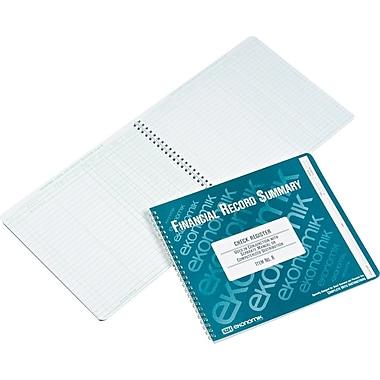 Ekonomik® Wirebound Check Register, Form R