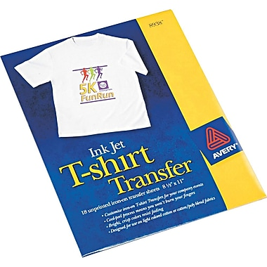Avery(R) T-shirt Transfers for Inkjet Printers 8938, 8-1/2