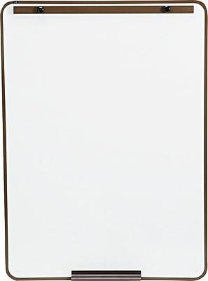 Quartet® Attachable Melamine Whiteboard for Steel Tripod Display Easel, Bronze Frame, 29
