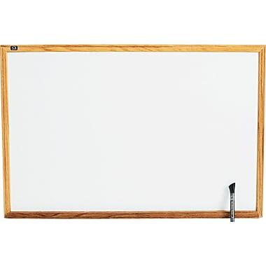 Quartet® Standard Whiteboard, 3' x 2', Oak Finish Frame (S573)