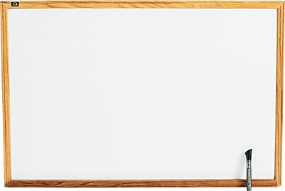 Quartet® Classic Whiteboard, Oak Finish Frame, 3'W x 2'H (S573)