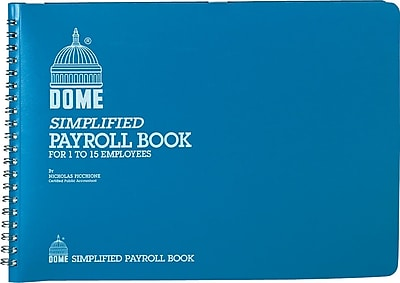 Dome Weekly Payroll Book, 1-15 Employees