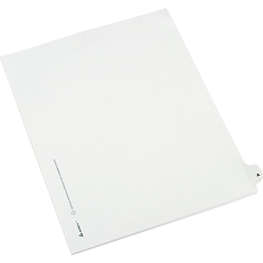 Avery Preprinted Legal Side Tab Dividers, Tab Titles A, 8 1/2