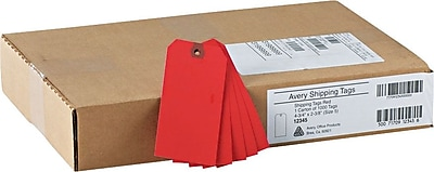 Avery® Red Tags, Unstrung, 4 3/4