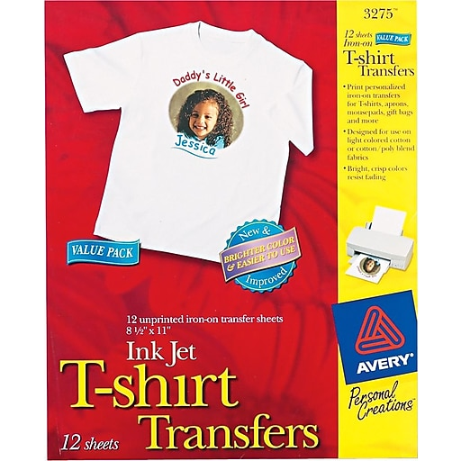 8d660c10 Avery® Inkjet Fabric Transfer, White, 8 1/2