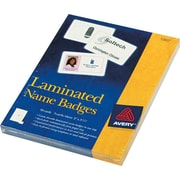 """Avery® Self-Laminating Name Tags with Clips, 2"""" x 3 1/4"""""""