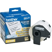 "Brother P-Touch® Label Printer Small Address Die-Cut Paper Labels, DK1209, White, 1 1/7"" x 2 3/7"", 800/Rl"